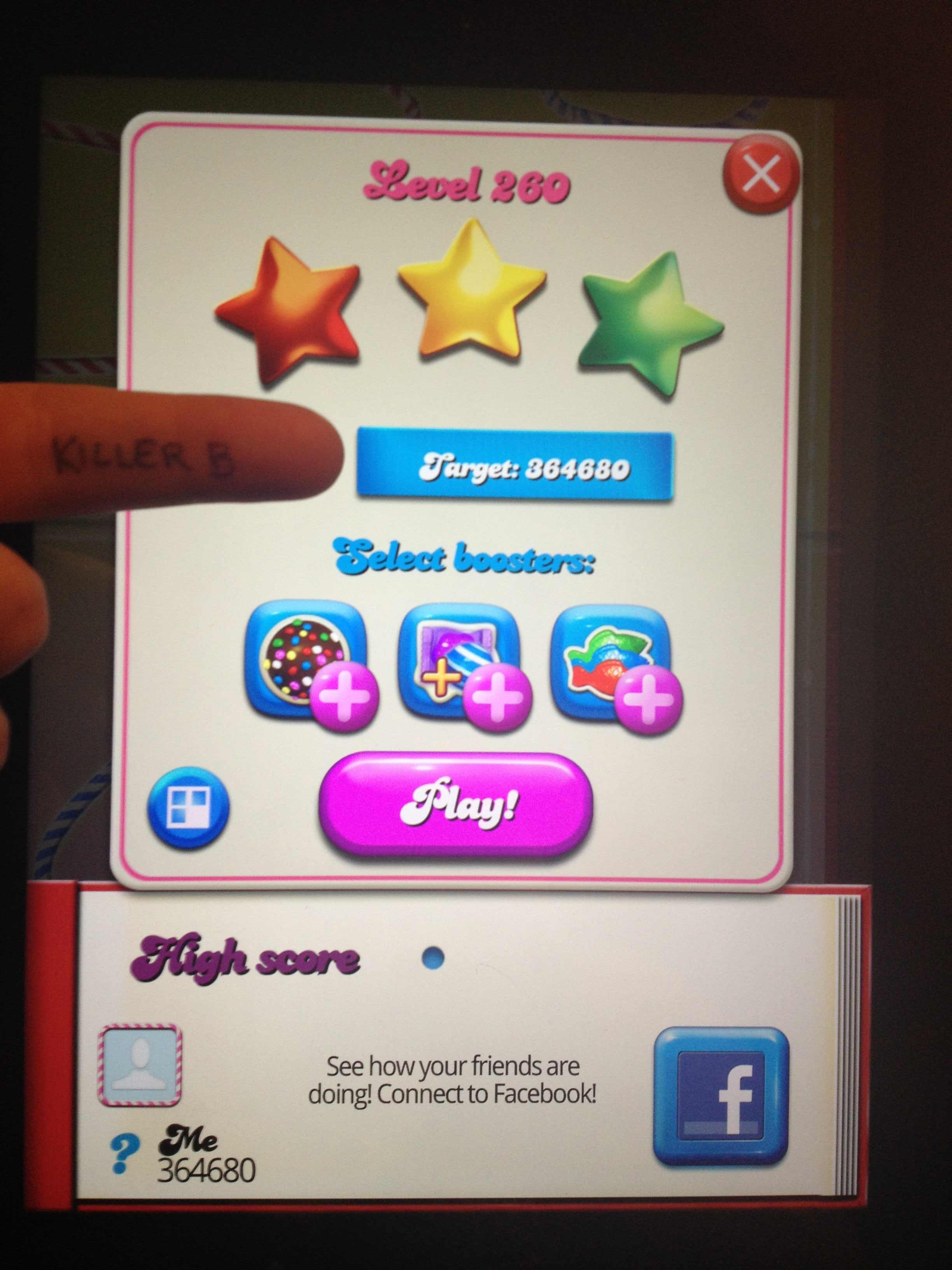 Candy Crush Saga: Level 260 364,680 points