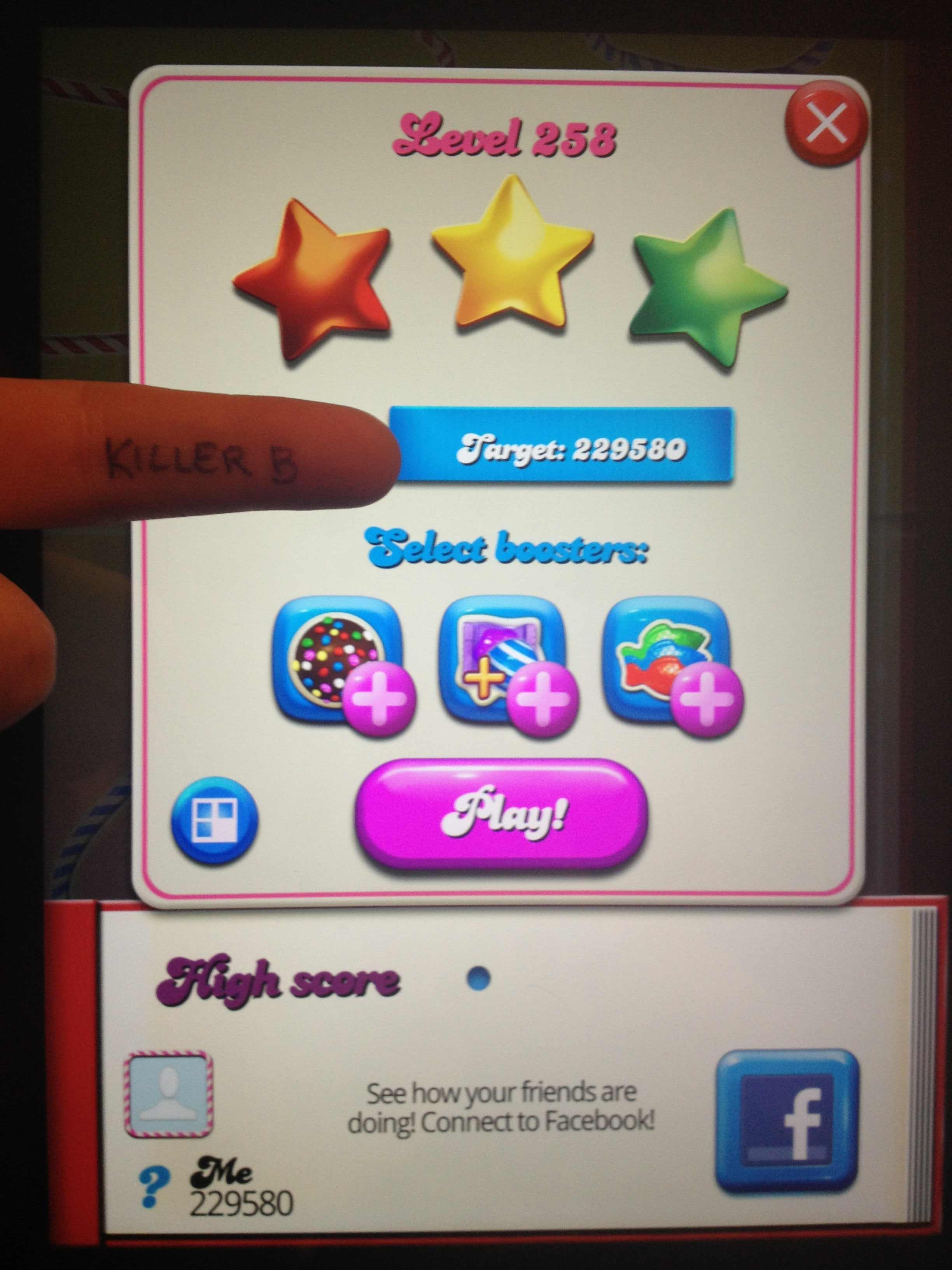 Candy Crush Saga: Level 258 229,580 points