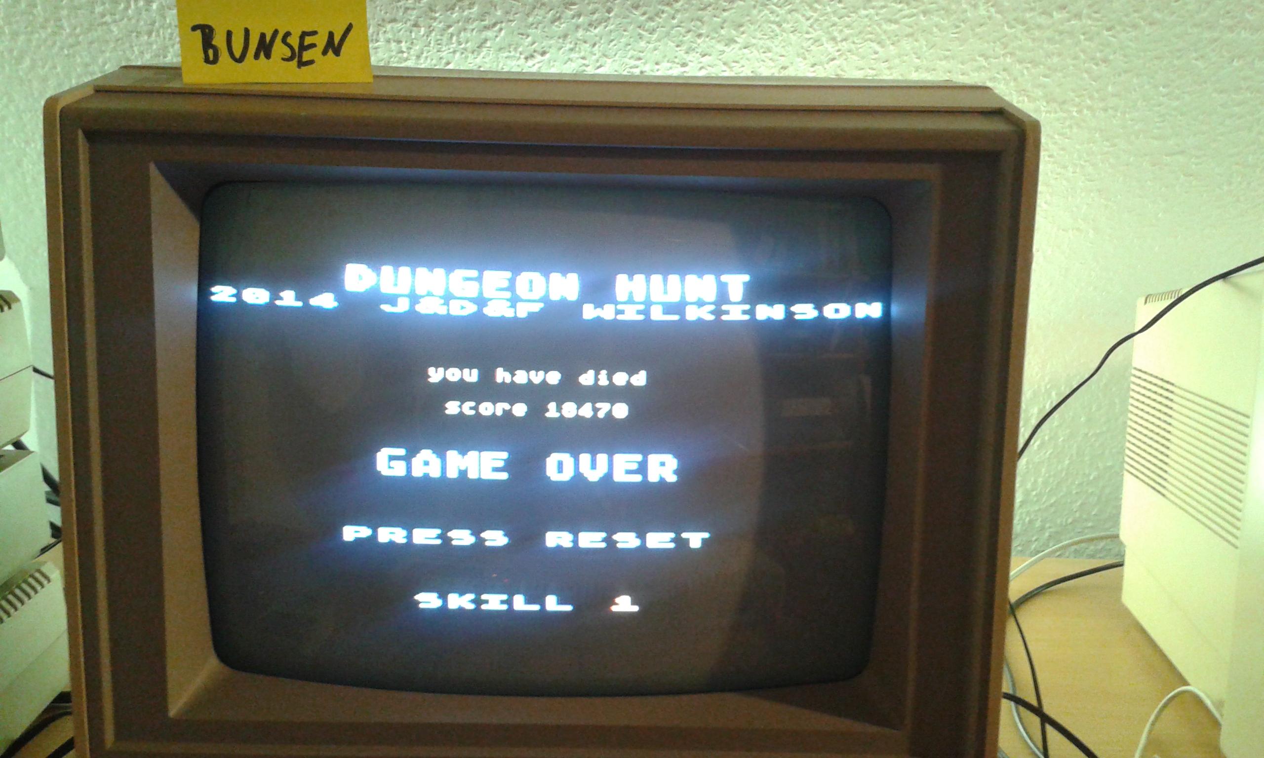 Bunsen: Dungeon Hunt (Atari 400/800/XL/XE) 18,470 points on 2015-02-19 13:40:34