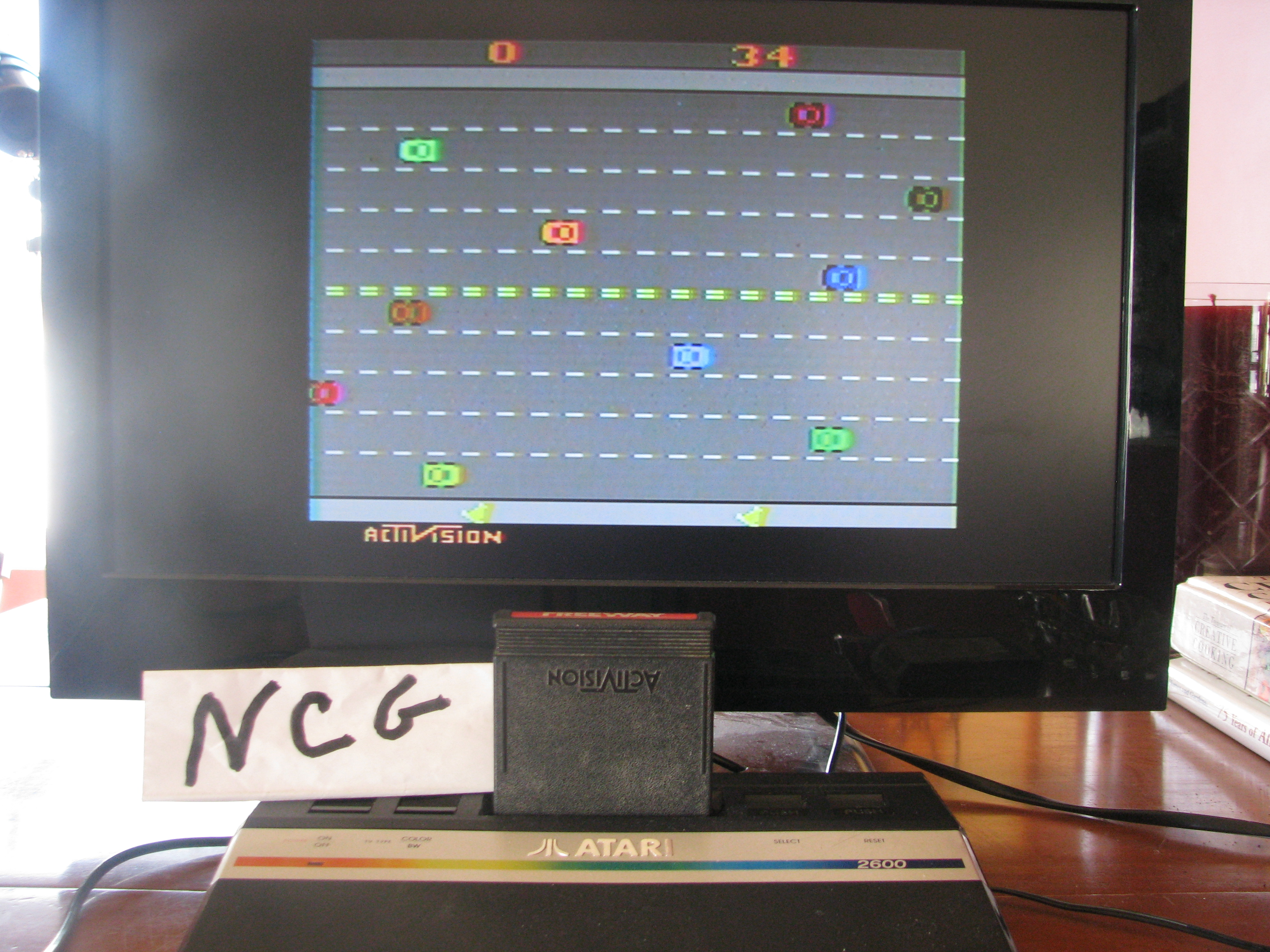 NorthCoastGamer: Freeway: Game 1 (Atari 2600 Novice/B) 34 points on 2015-02-20 15:33:21