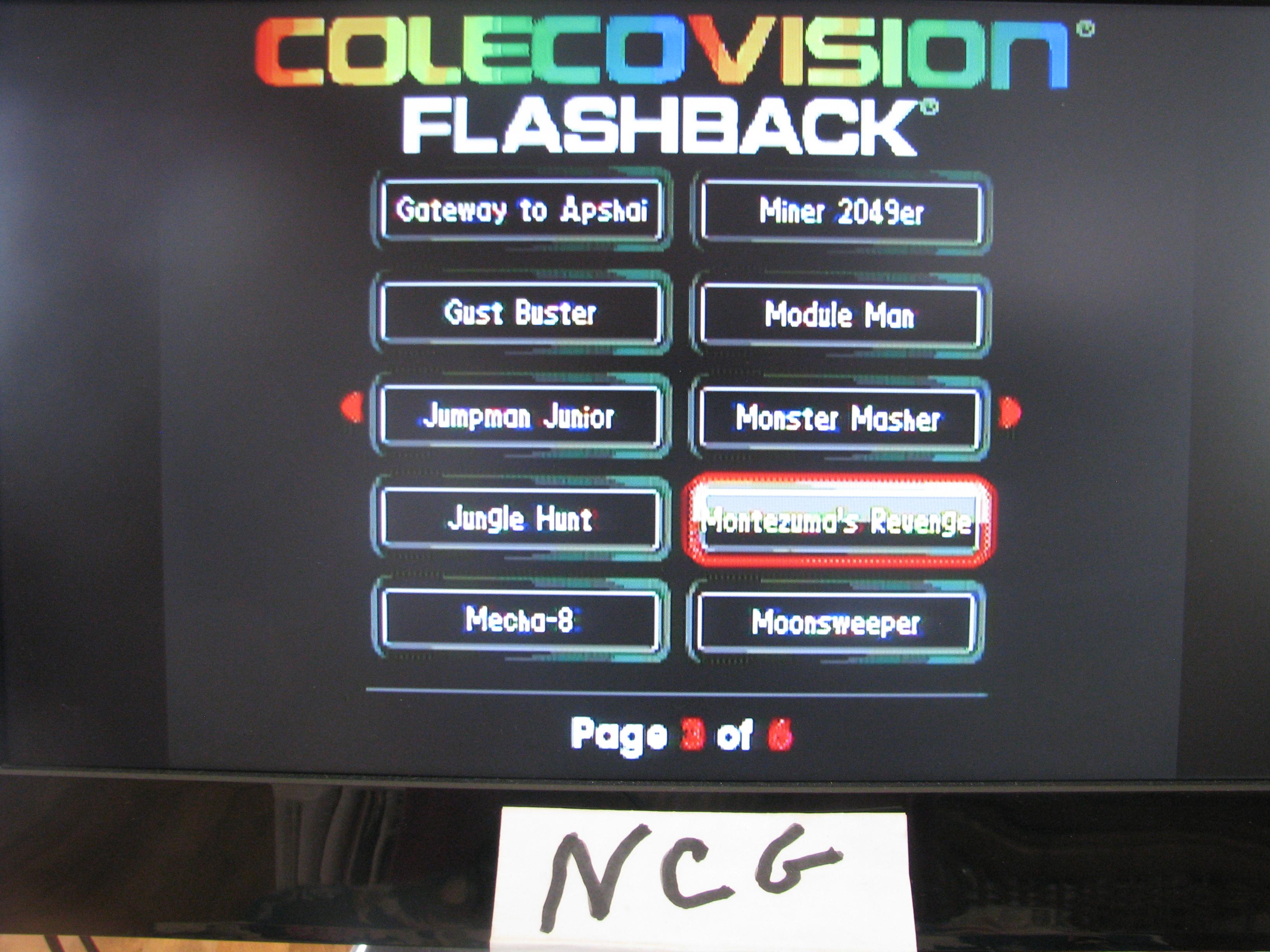 NorthCoastGamer: Montezuma`s Revenge (Colecovision Flashback) 214,800 points on 2015-02-20 15:37:52