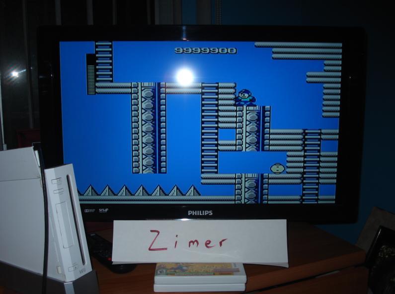 Zimer: Mega Man (Wii Virtual Console: NES) 9,999,900 points on 2015-02-21 05:06:53