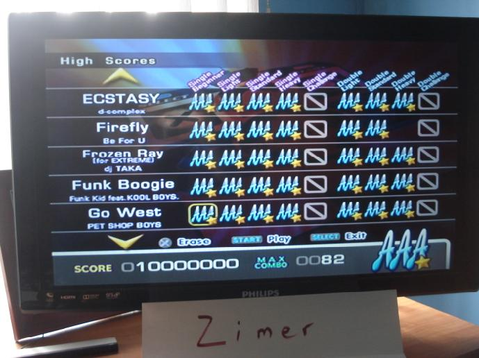 Zimer: DDR Extreme: Go West [Single/Beginner] (Playstation 2) 10,000,000 points on 2015-02-21 05:11:23