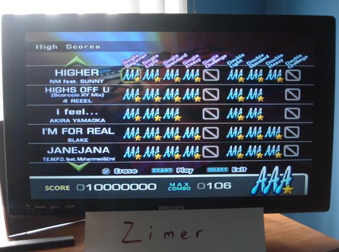 Zimer: DDR Extreme: Higher [Single/Beginner] (Playstation 2) 10,000,000 points on 2015-02-21 05:12:04