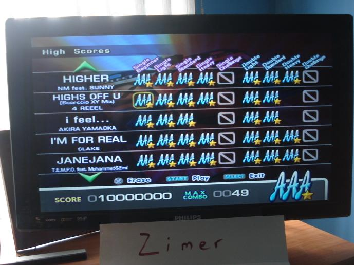 Zimer: DDR Extreme: Highs Off You (Scorccion XY Mix) [Single/Beginner] (Playstation 2) 10,000,000 points on 2015-02-21 04:12:09