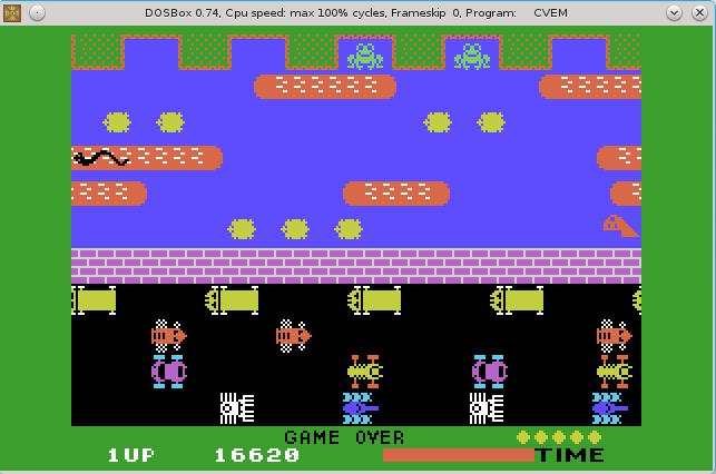 Frogger 16,620 points