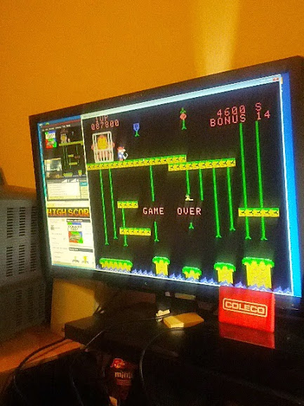 coleco1981: Donkey Kong Jr (Colecovision Emulated) 87,800 points on 2015-02-21 10:58:21