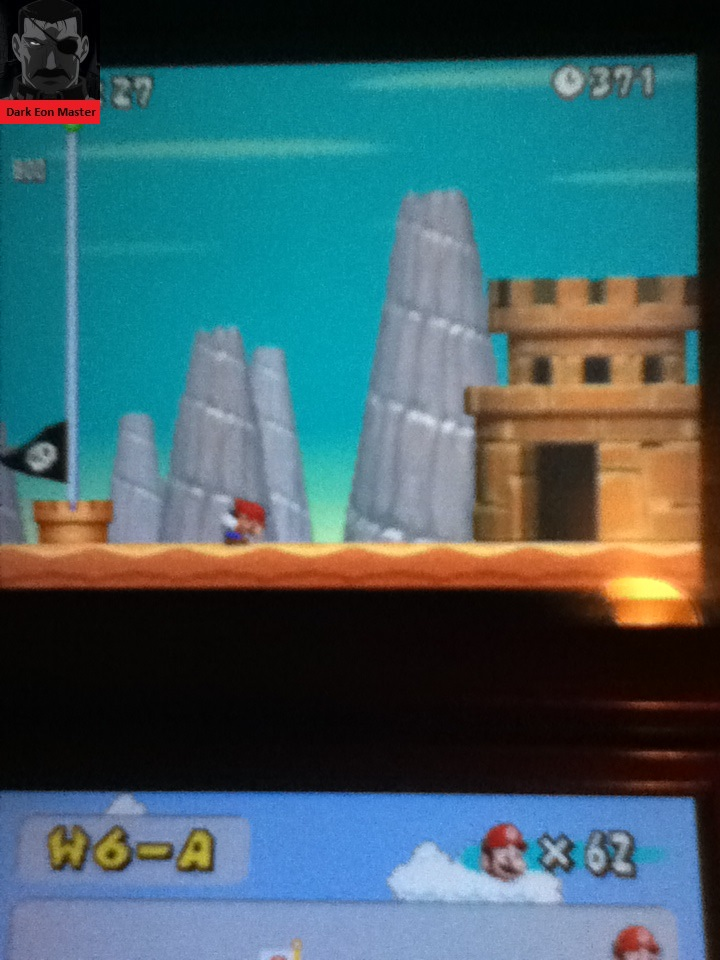 DarkEonMaster: New Super Mario Bros.: World 6-A [Remaining Time] (Nintendo DS) 371 points on 2015-02-21 13:58:54