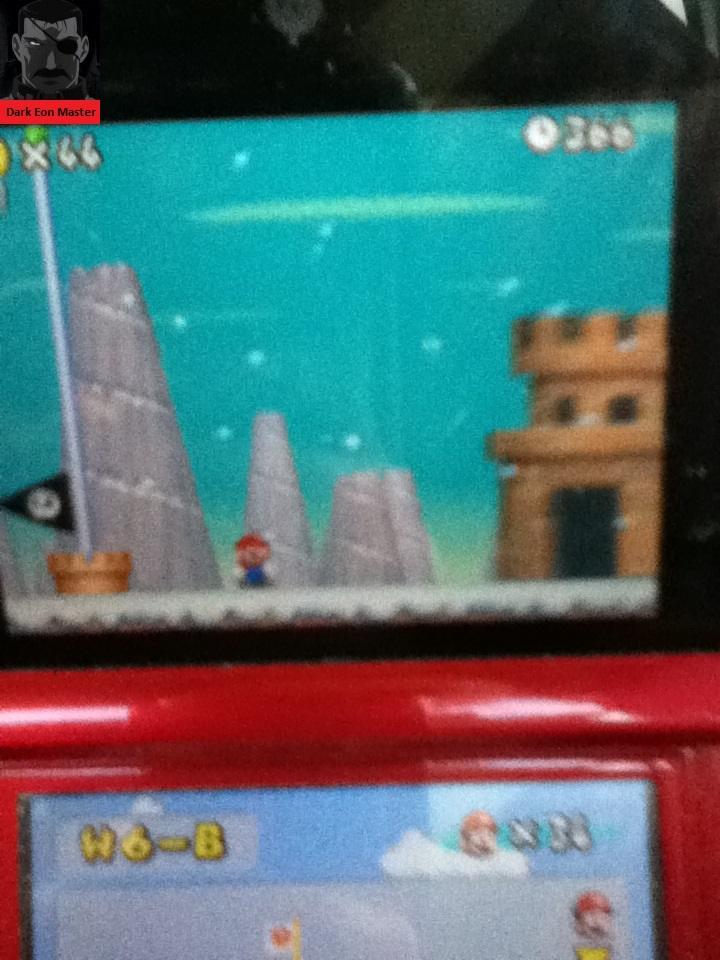 New Super Mario Bros.: World 6-B [Remaining Time] 366 points