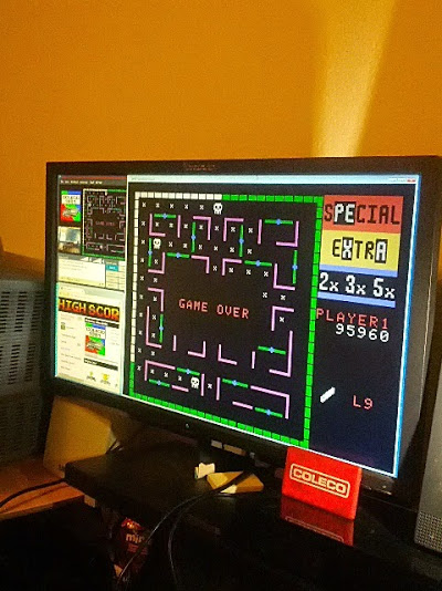 coleco1981: Lady Bug (Colecovision Emulated) 95,960 points on 2015-02-21 17:37:18