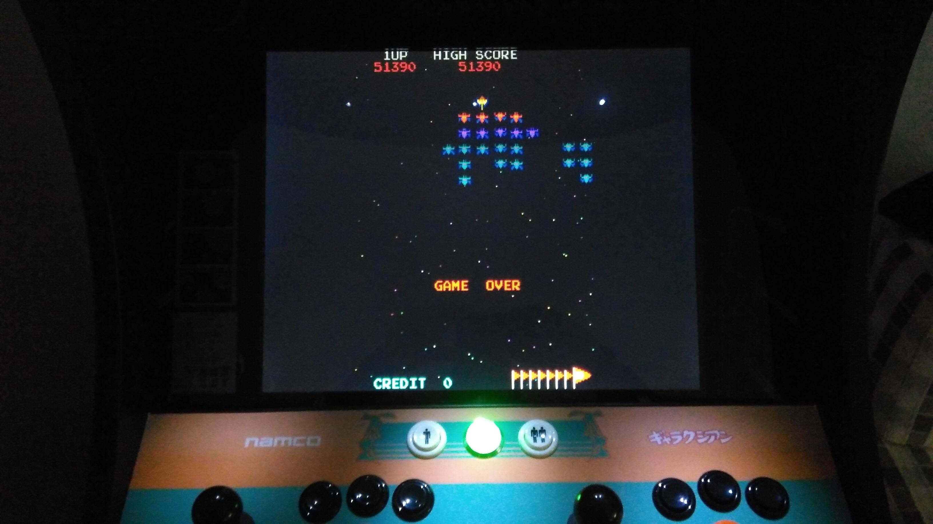 minirecreativas: Galaxian (Arcade Emulated / M.A.M.E.) 51,390 points on 2015-02-23 14:30:11
