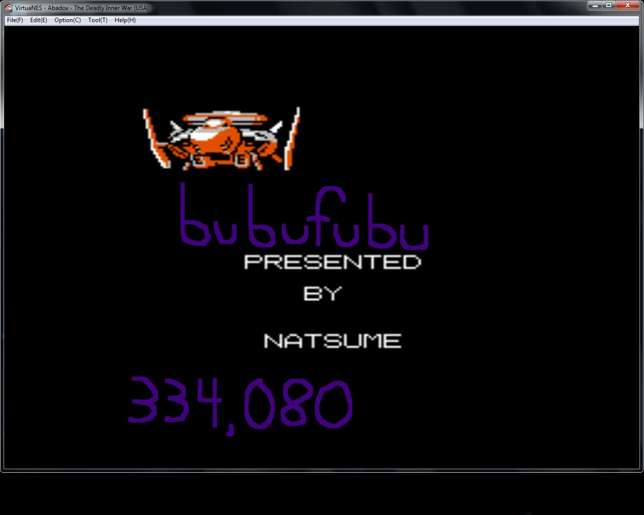 bubufubu: Abadox (NES/Famicom Emulated) 334,080 points on 2015-02-24 21:00:32