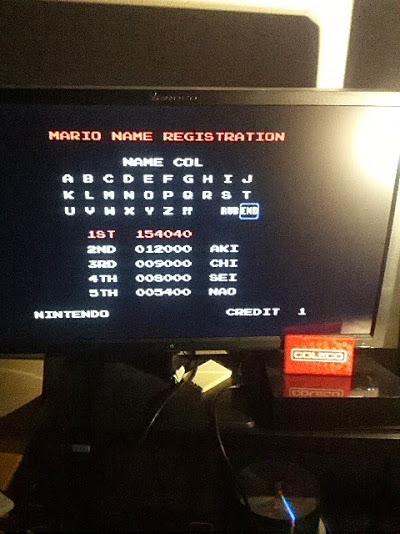Mario Bros 154,040 points