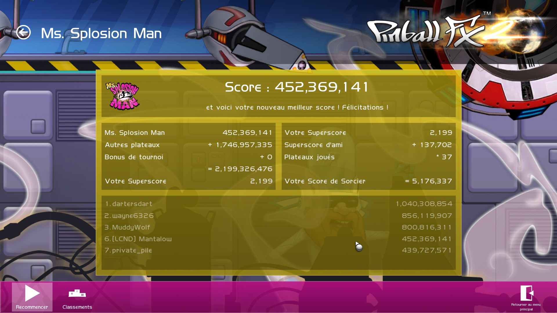 Mantalow: Pinball FX 2: Ms.