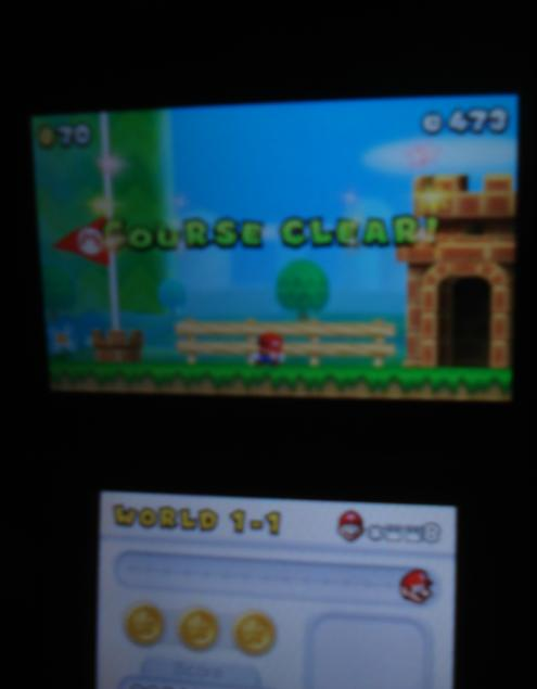 New Super Mario Bros. 2: World 1-1 [Remaining Time] 473 points