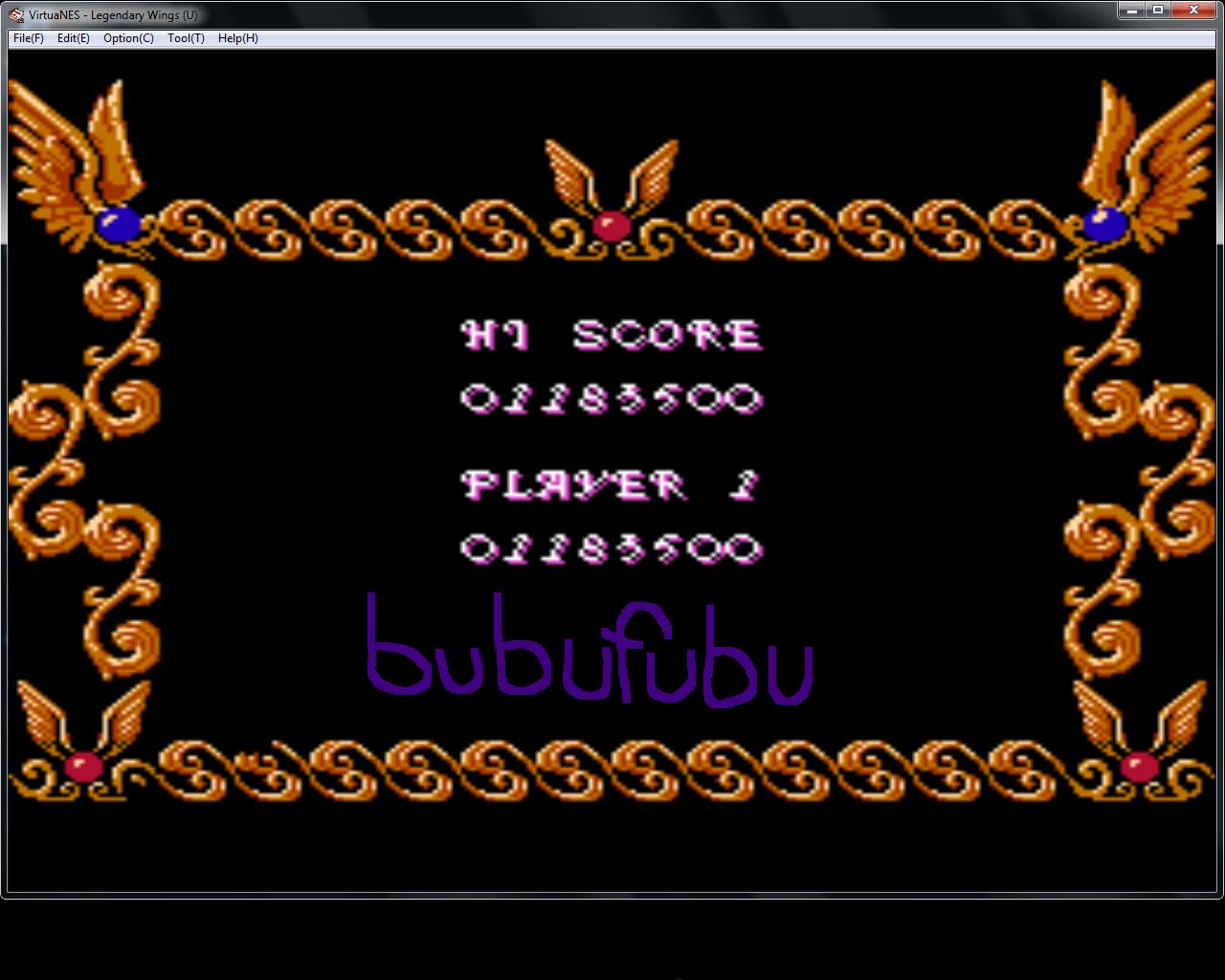 bubufubu: Legendary Wings (NES/Famicom Emulated) 1,183,500 points on 2015-02-28 16:30:03
