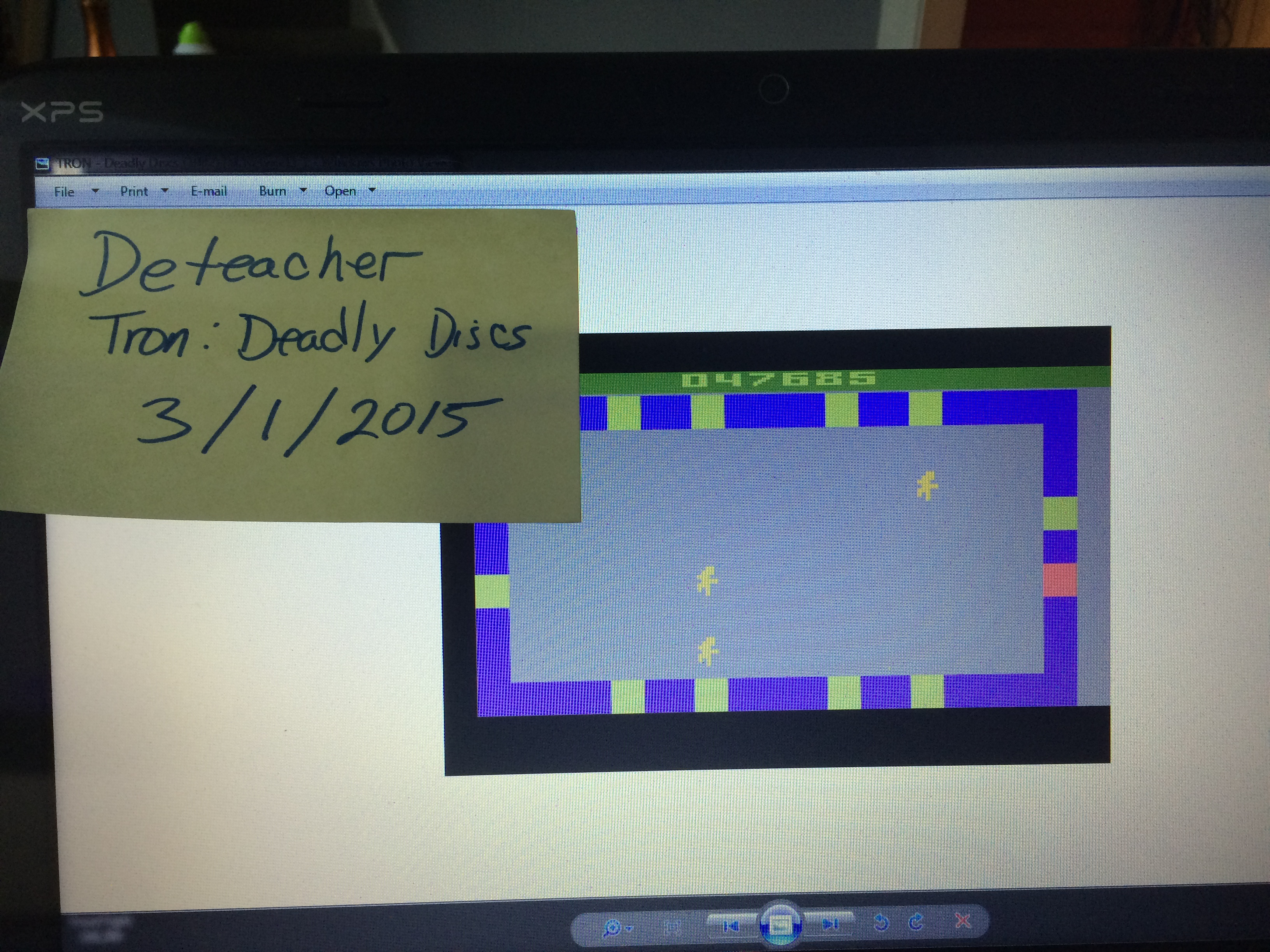 Deteacher: Tron: Deadly Discs (Atari 2600 Emulated Novice/B Mode) 47,685 points on 2015-03-01 13:34:43
