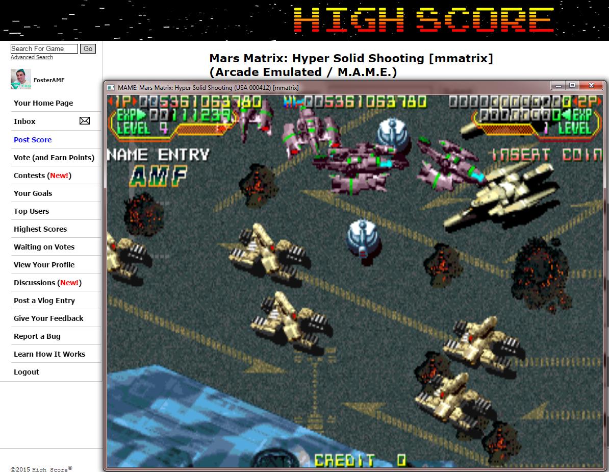 FosterAMF: Mars Matrix: Hyper Solid Shooting [mmatrix] (Arcade Emulated / M.A.M.E.) 5,361,063,780 points on 2015-03-01 23:58:25
