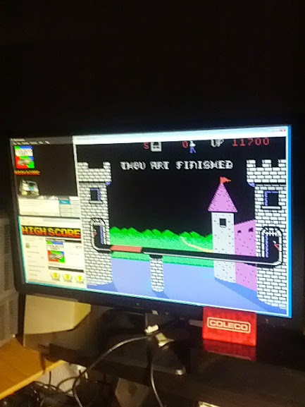coleco1981: Dragonfire (Colecovision Emulated) 11,700 points on 2015-03-02 22:05:02