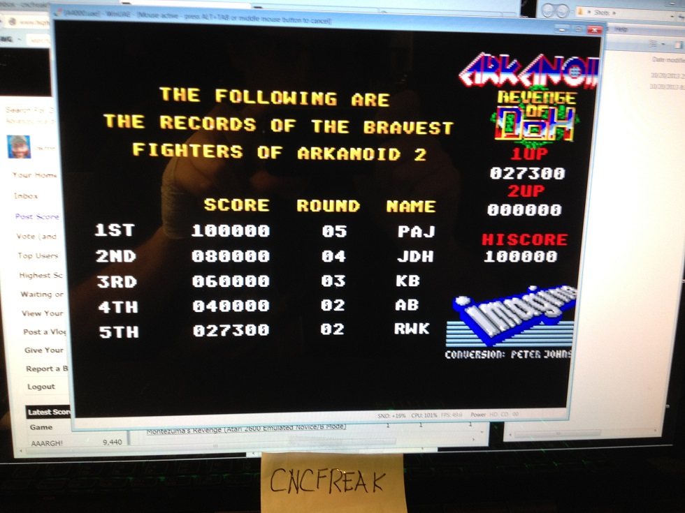 Arkanoid: Revenge of Doh 27,300 points