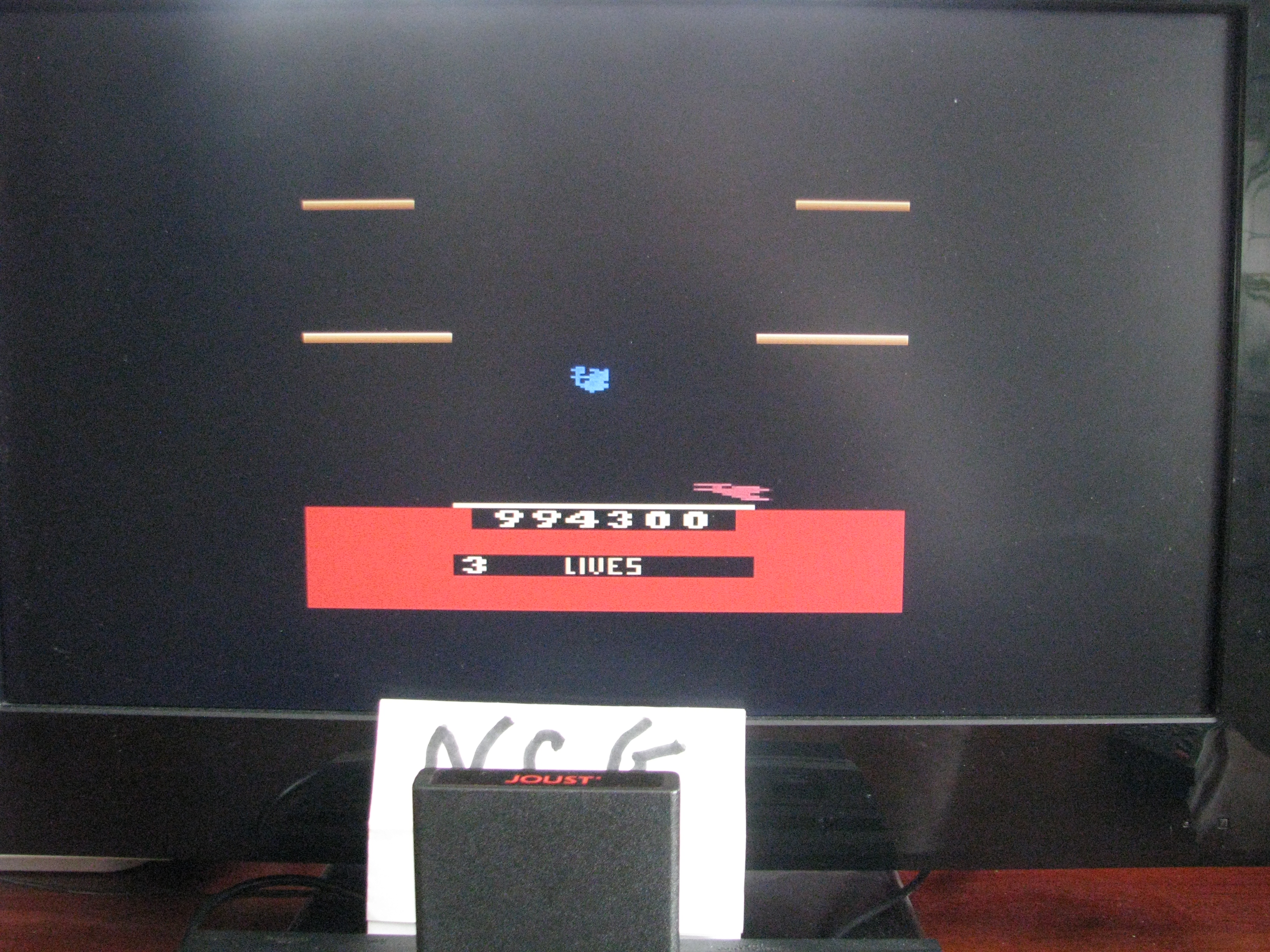 NorthCoastGamer: Joust (Atari 2600) 994,300 points on 2015-03-03 15:41:18