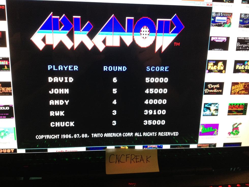 Arkanoid 39,100 points