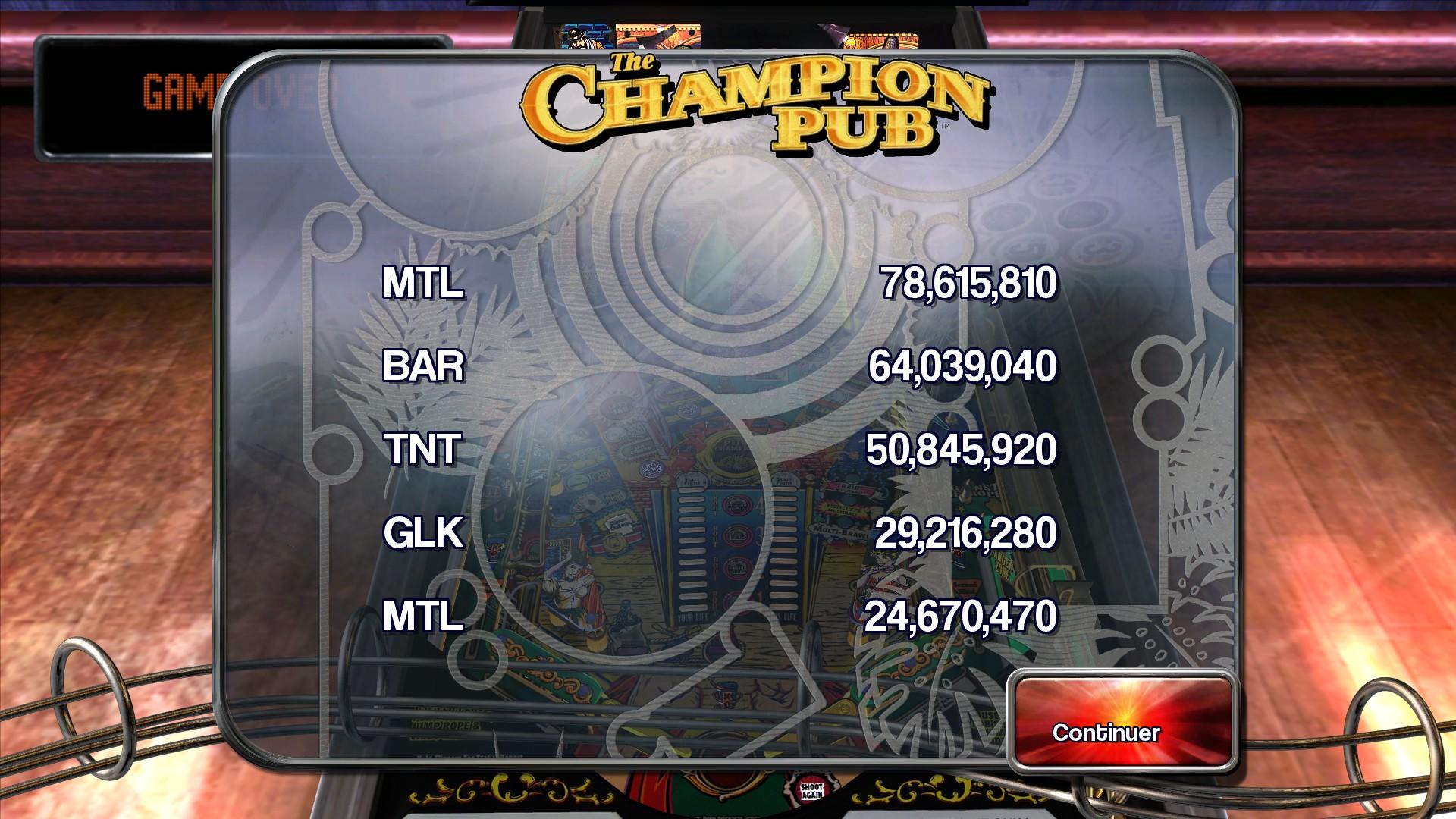 Mantalow: Pinball Arcade: The Champion Pub (PC) 78,615,810 points on 2015-03-05 05:40:02