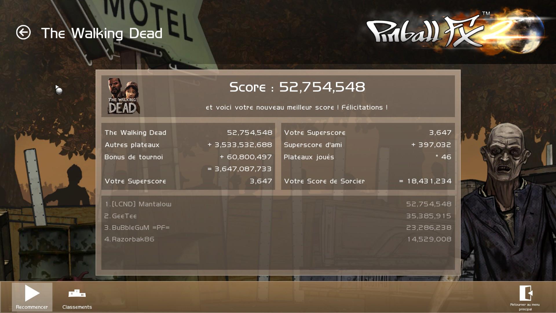 Mantalow: Pinball FX 2: The Walking Dead (PC) 52,754,548 points on 2015-03-05 09:56:45