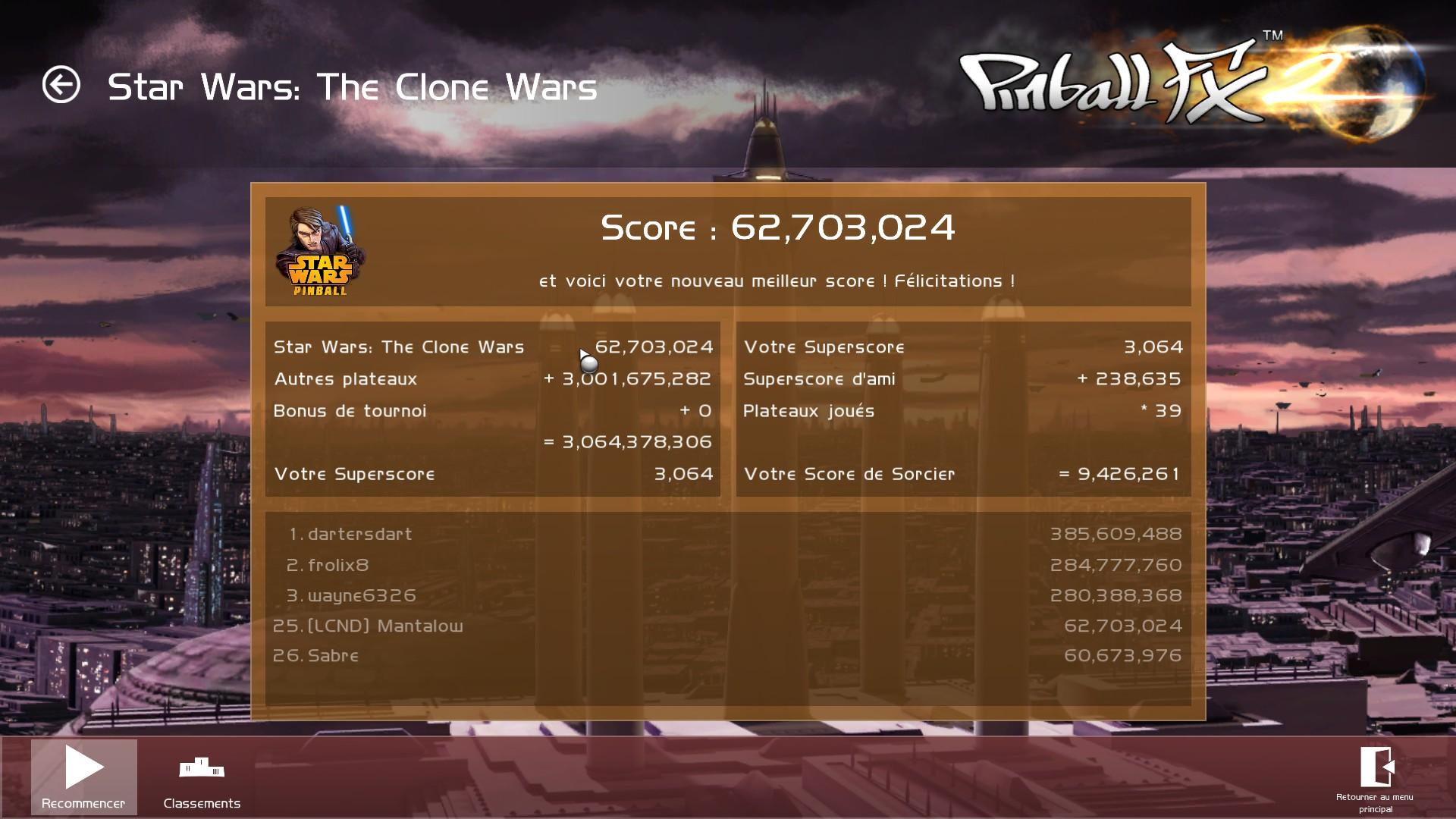 Mantalow: Pinball FX 2: Star Wars: The Clone Wars (PC) 62,703,024 points on 2015-03-05 10:04:19