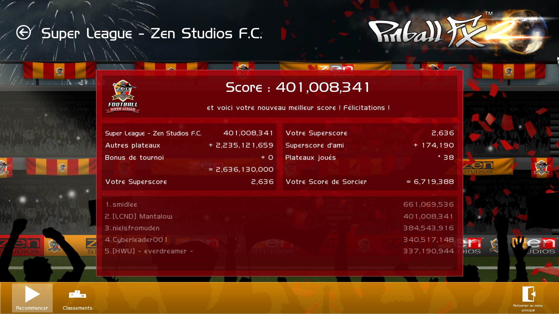 Mantalow: Pinball FX 2: Super League (PC) 401,008,341 points on 2015-03-05 10:07:26