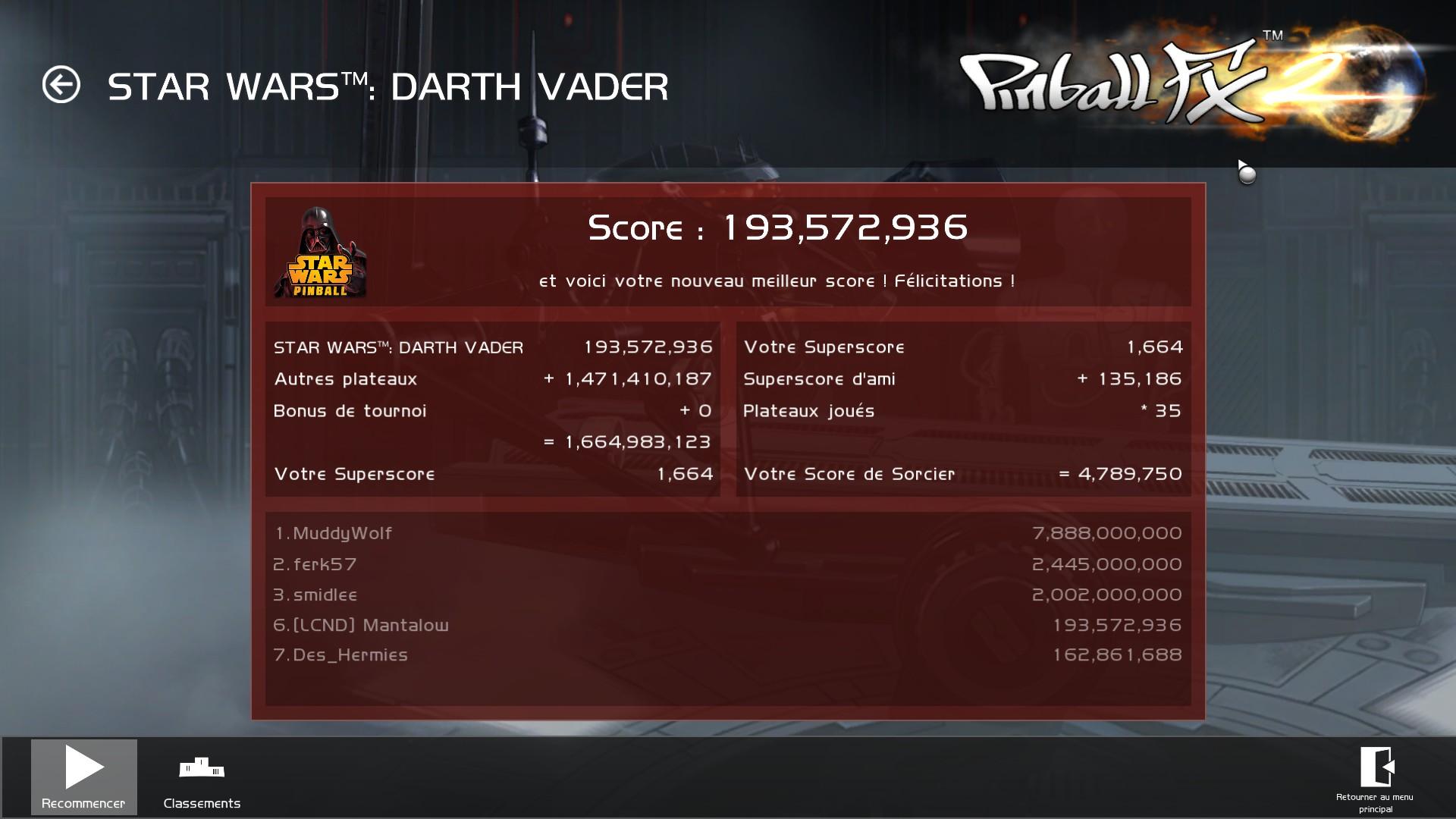 Mantalow: Pinball FX 2: Star Wars: Darth Vader (PC) 193,572,936 points on 2015-03-05 10:08:27
