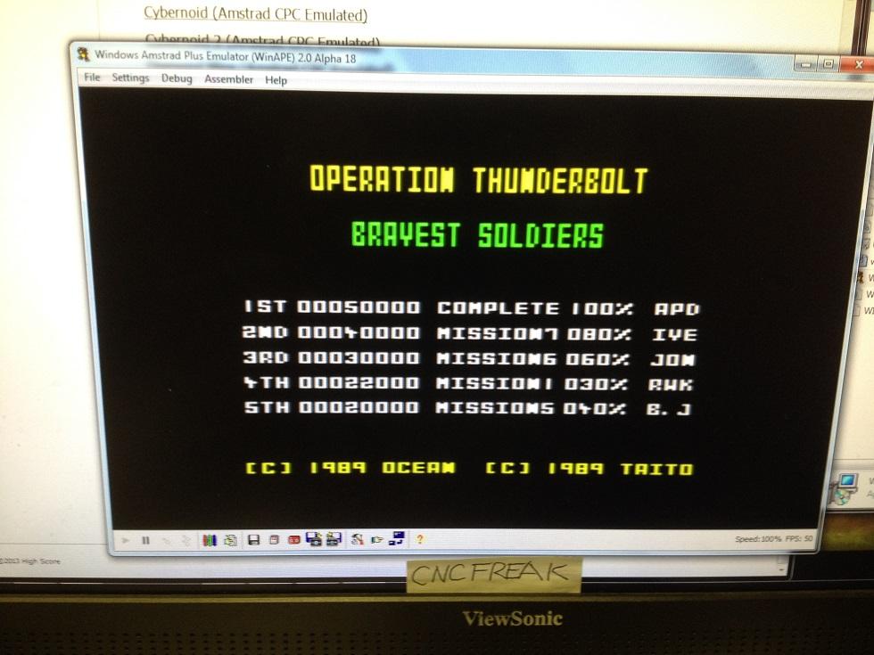 Operation Thunderbolt 22,000 points