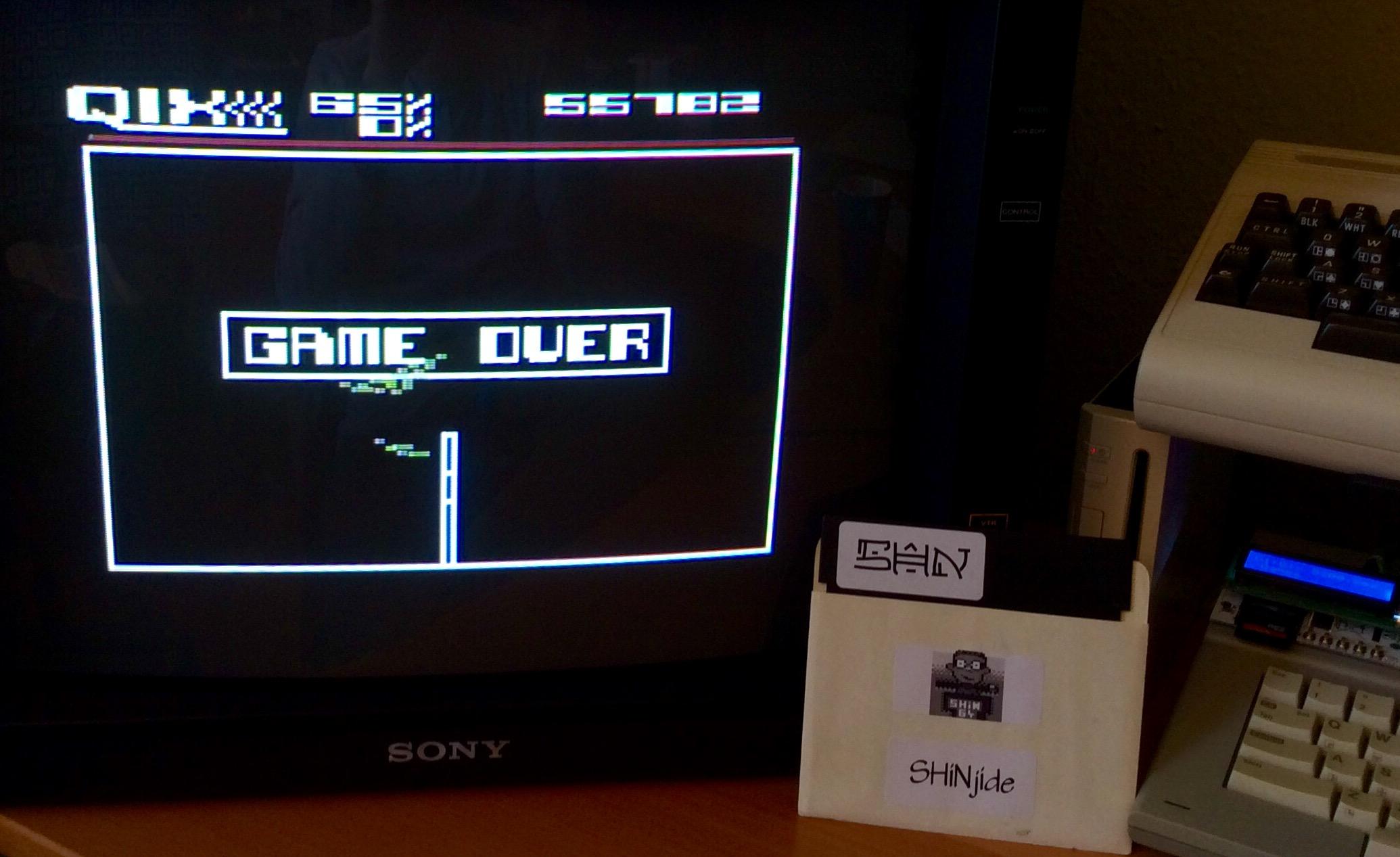 SHiNjide: Qix 5200 [Novice] (Atari 400/800/XL/XE) 55,782 points on 2015-03-06 09:01:35
