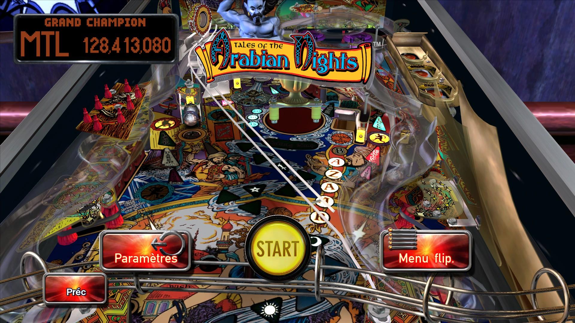 Mantalow: Pinball Arcade: Arabian Knights (PC) 128,413,080 points on 2015-03-06 11:21:59