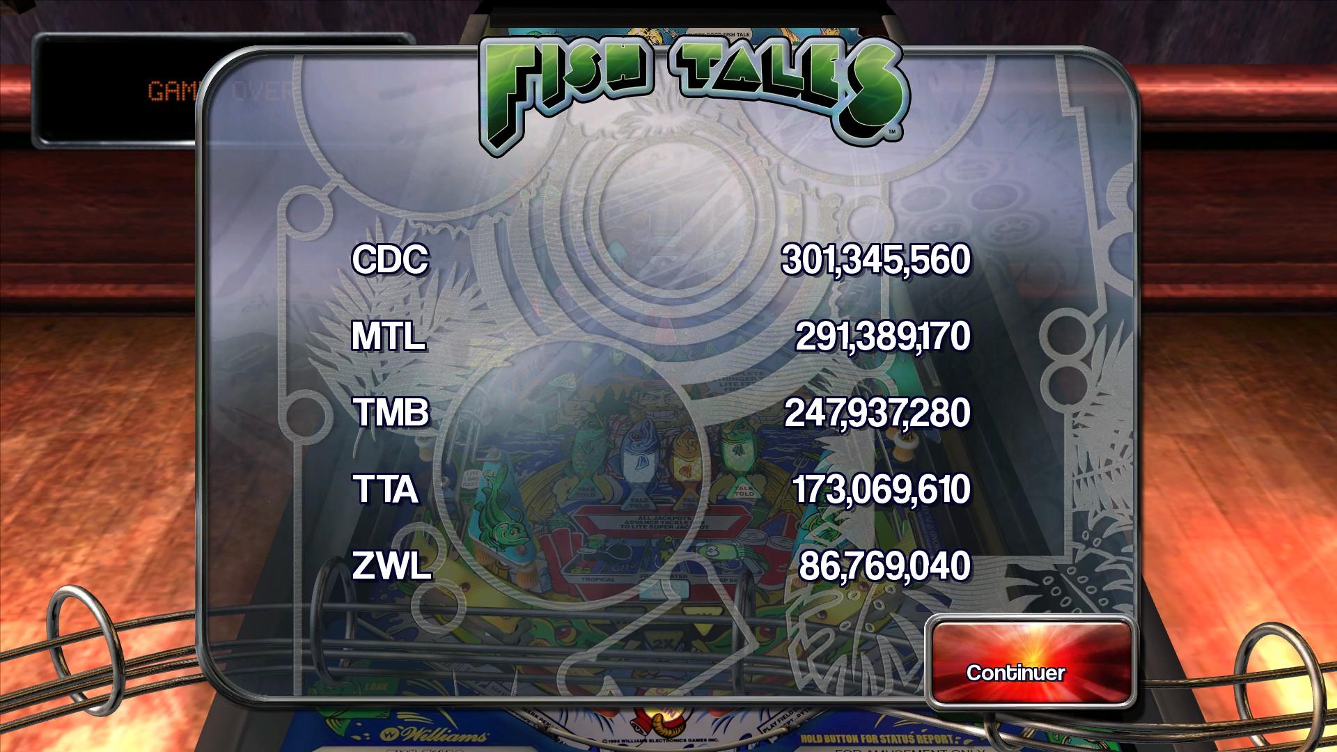 Mantalow: Pinball Arcade: Fish Tales (PC) 291,389,170 points on 2015-03-06 11:23:21