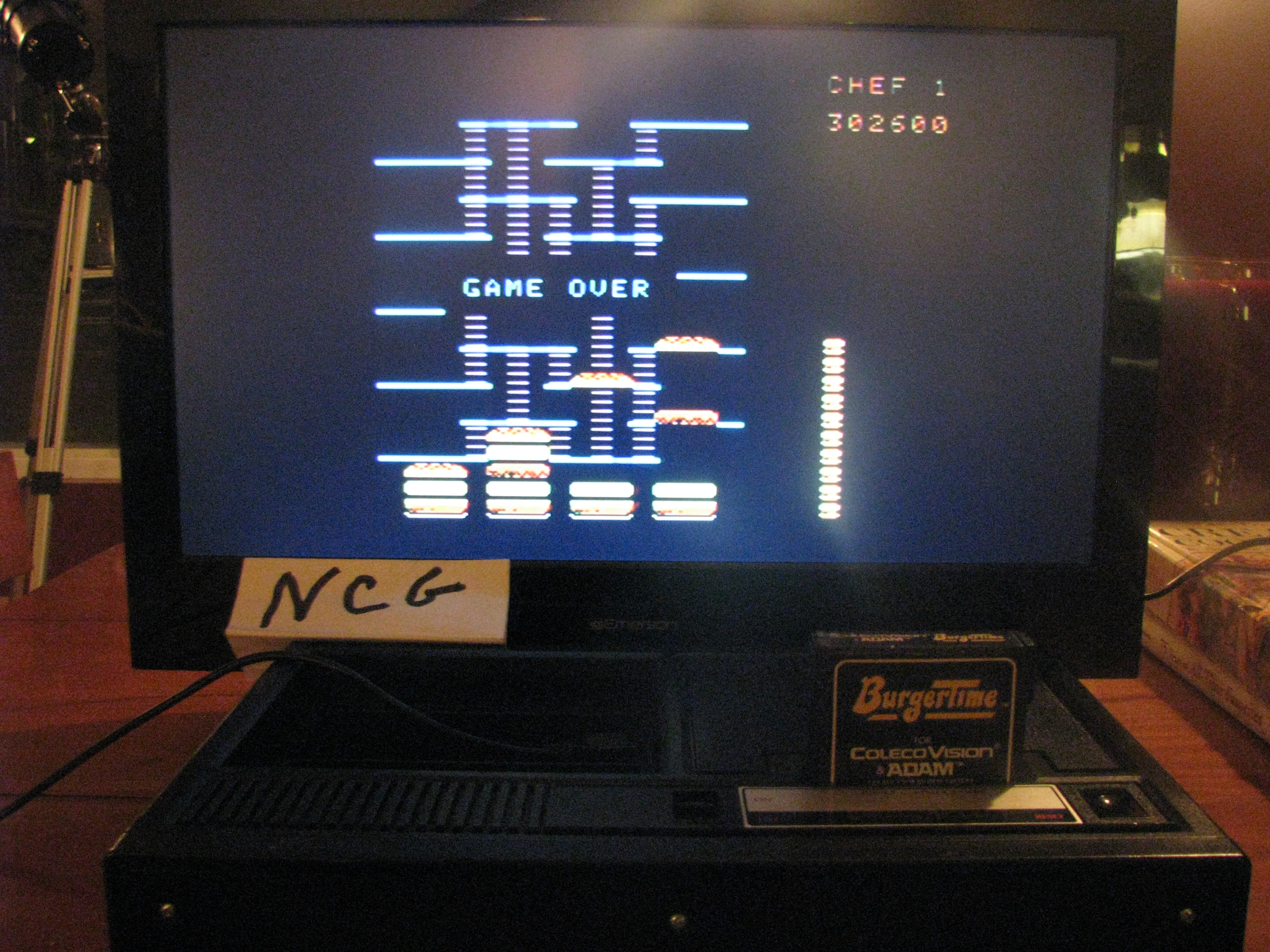 NorthCoastGamer: BurgerTime (Colecovision) 302,600 points on 2015-03-06 19:35:42
