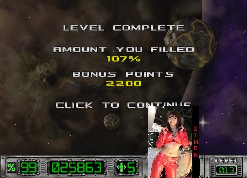 Zimer: Cosmic Bugs: Level 013 [Percentage] (PC) 107 points on 2015-03-06 23:10:43