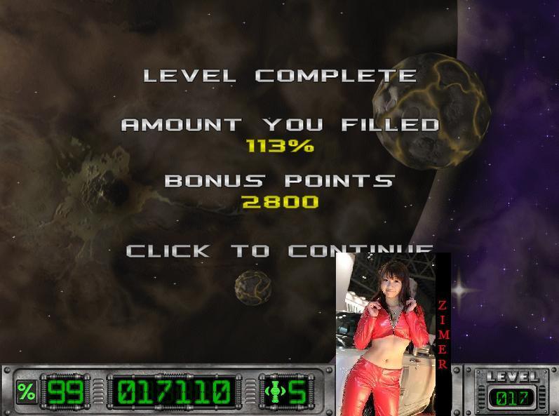 Zimer: Cosmic Bugs: Level 017 [Percentage] (PC) 113 points on 2015-03-06 23:12:45