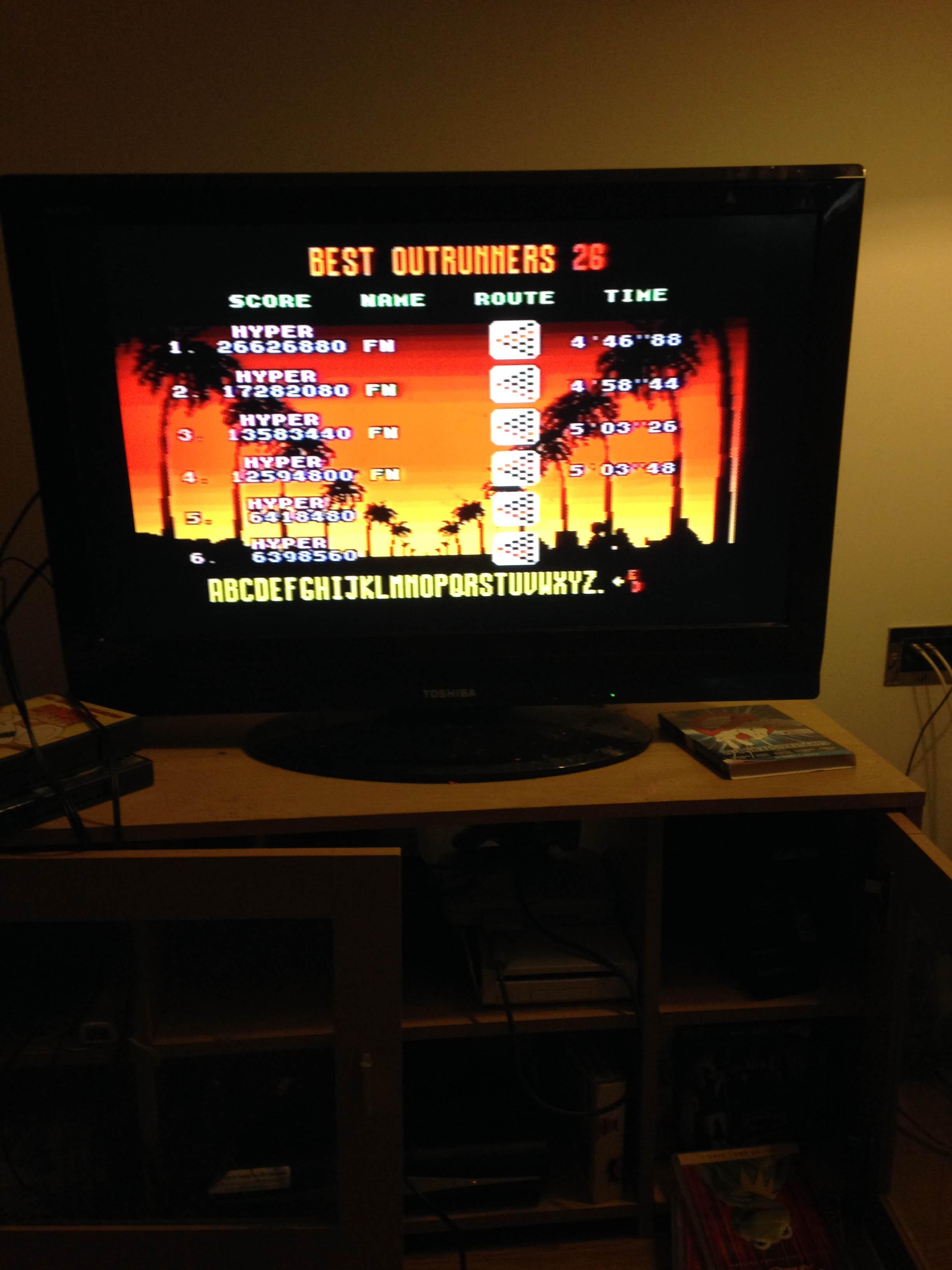 mechafatnick: Outrun [Hyper] Goal D (Sega Genesis / MegaDrive) 13,583,440 points on 2015-03-07 02:40:31