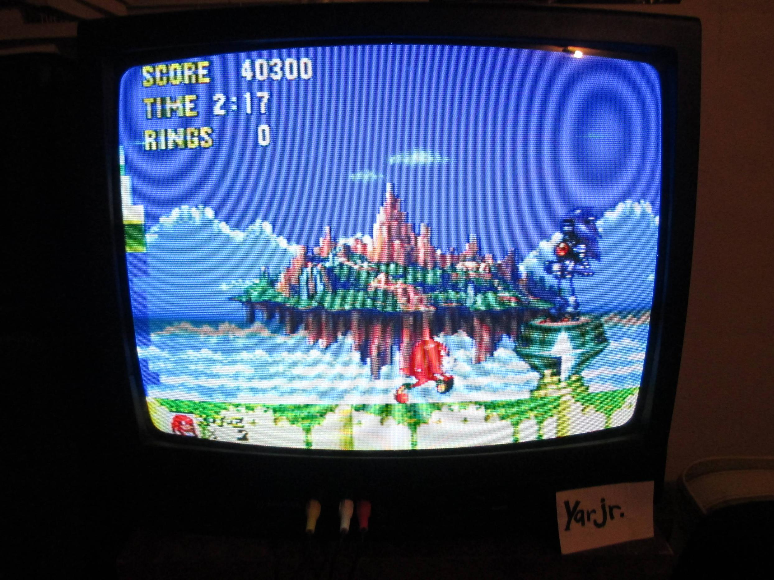 Sonic and Knuckles 40,300 points