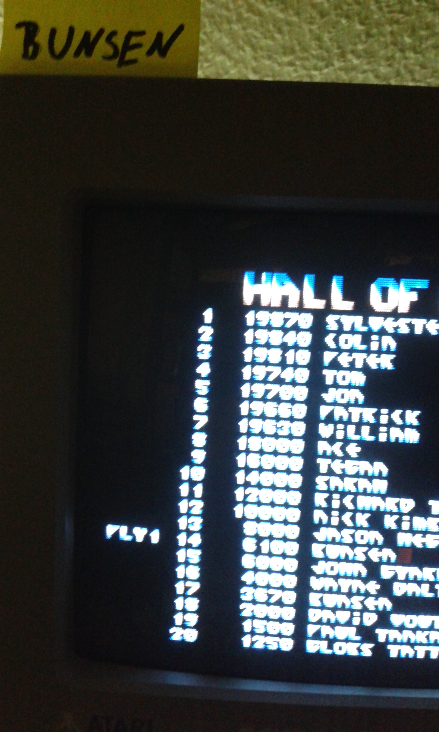 Bunsen: Dalek Attack (Atari ST) 6,100 points on 2015-03-07 10:46:27