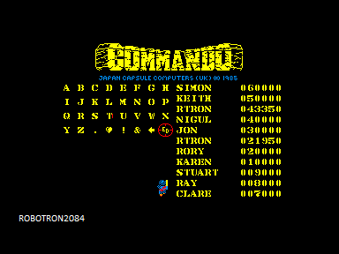 Commando 43,350 points