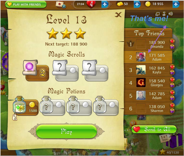 FosterAMF: Bubble Witch Saga: Level 13 (Web) 171,585 points on 2015-03-08 15:09:36