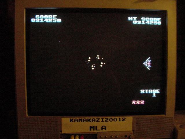 kamakazi20012: Gyruss (NES/Famicom) 314,250 points on 2013-09-11 00:25:35