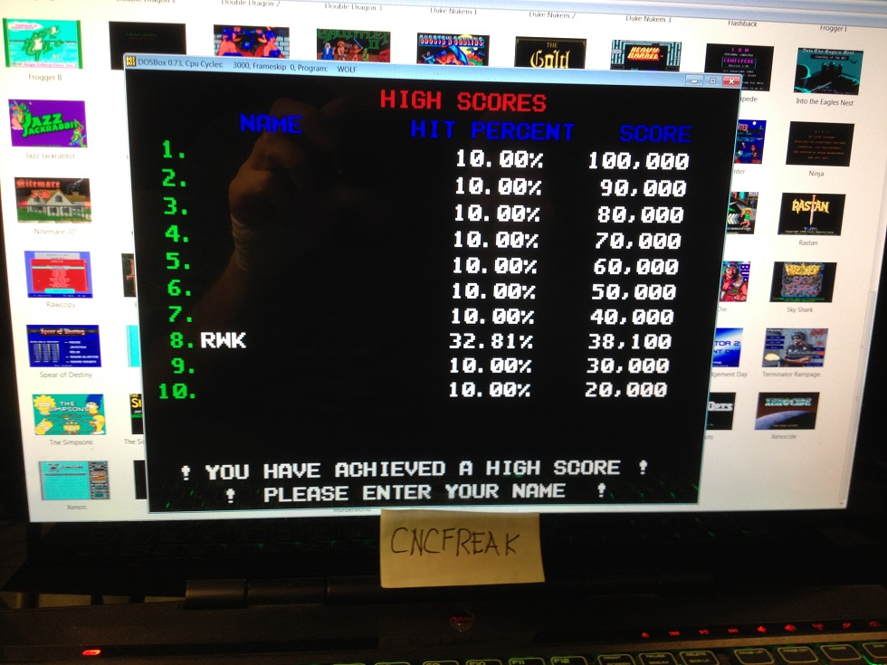 Taito Legends: Operation Wolf 38,100 points