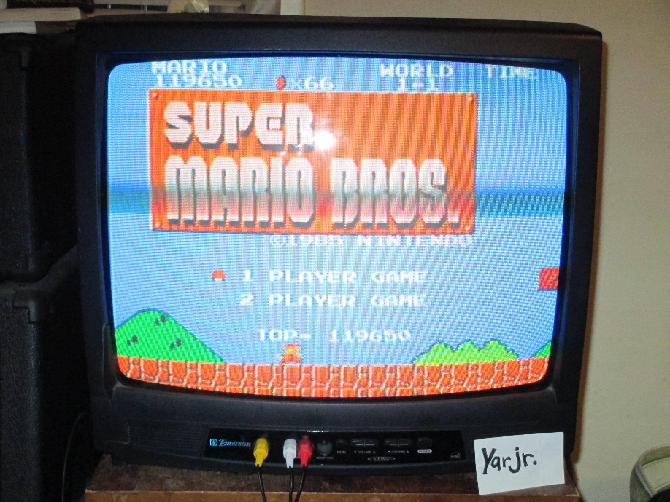 Super Mario Bros. 119,650 points