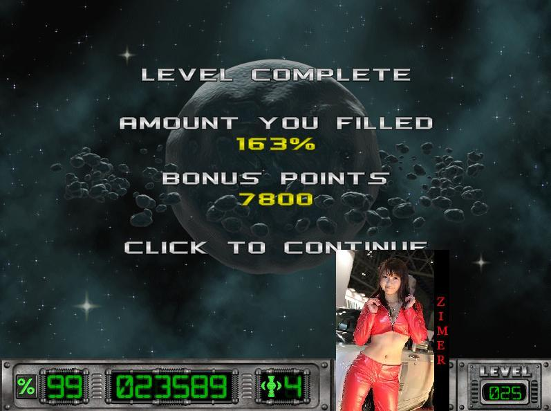 Zimer: Cosmic Bugs: Level 025 [Percentage] (PC) 163 points on 2015-03-11 23:08:49