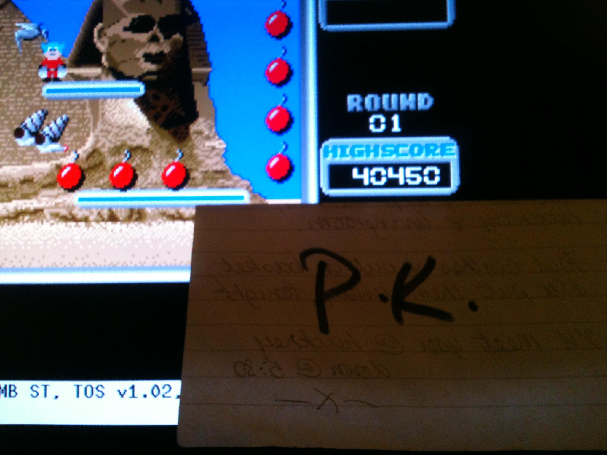 kernzy: Bomb Jack (Atari ST Emulated) 40,450 points on 2015-03-12 14:17:39