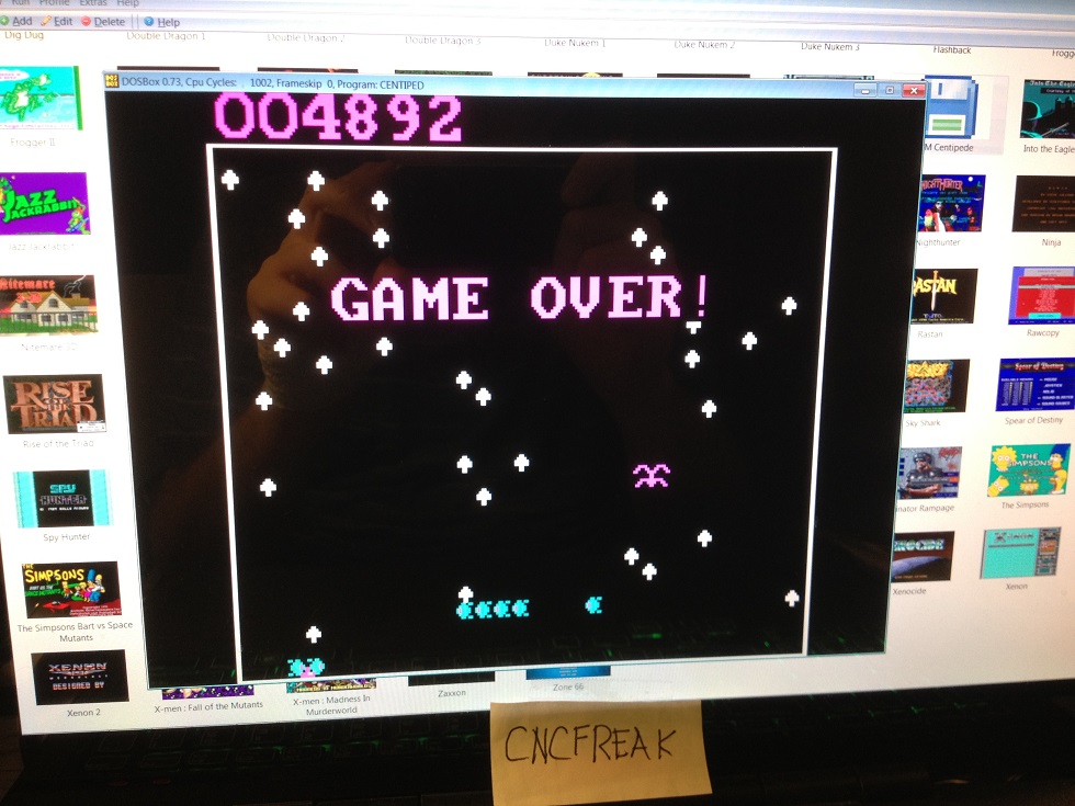 IBM Centipede 4,892 points