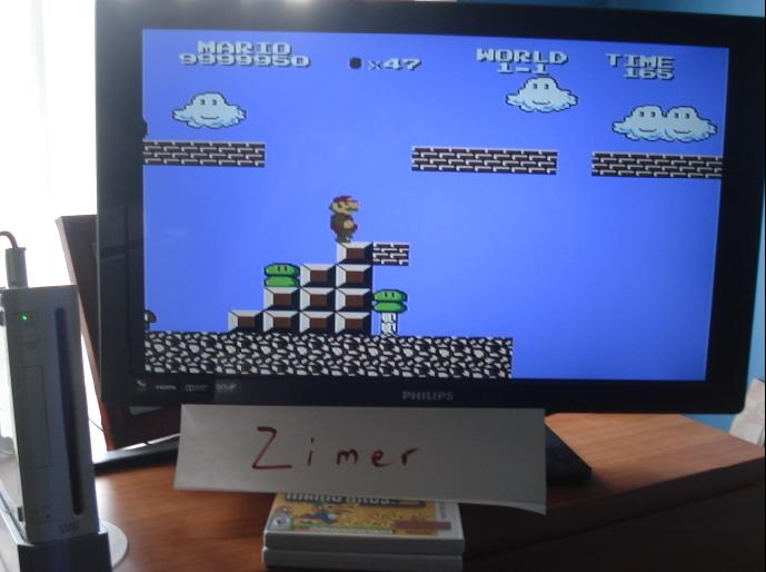 Zimer: Super Mario Bros. The Lost Levels (Wii Virtual Console: NES) 9,999,950 points on 2015-03-15 12:33:40